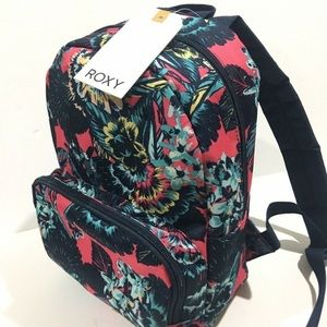 Roxy Always Core 8L Backpack Blue Pink Flower NWT